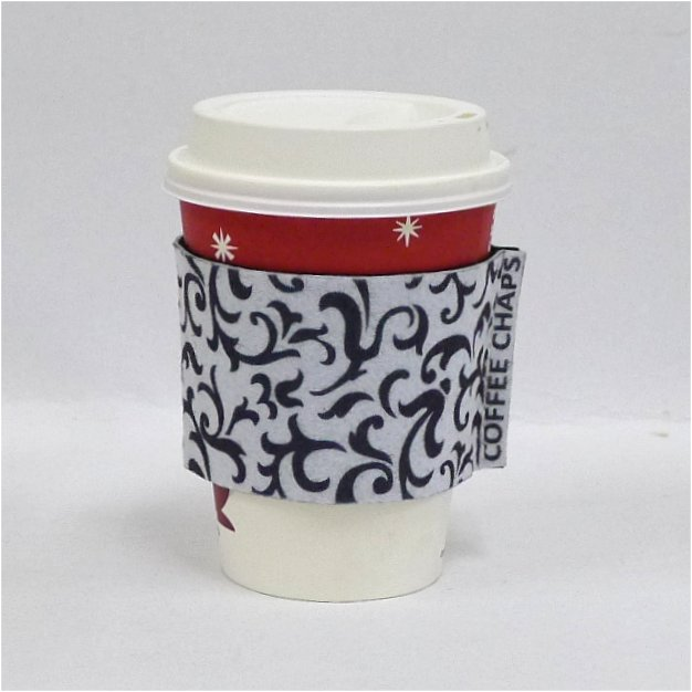 Coffee Chaps: Paisley Swirl - Black on White (CC1108)