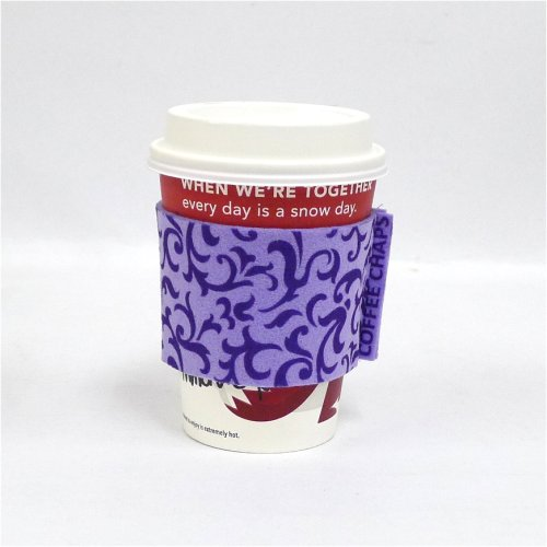 Coffee Chaps: Paisley Swirl - Purple (CC1110)