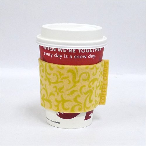 Coffee Chaps: Paisley Swirl - Yellow (CC1111)