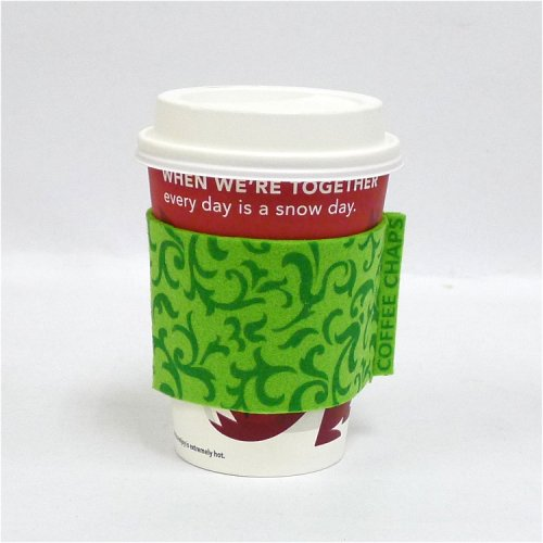 Coffee Chaps: Paisley Swirl - Green (CC1112)