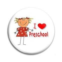 BUTTON PIN: I Love Preschool - Girl (GT5033)