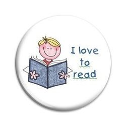 Button Pin: I Love to read - Boy (GT5036)