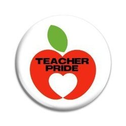 Button Pin: Teacher Pride  (GT5039)