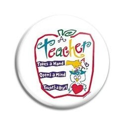 Button Pin: A Teacher takes a hand  (GT5046)