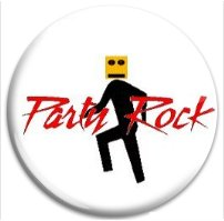 Button Pin: Party Rock robot (GT5060)